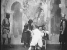 Beerbohm Tree, King John, Act V, Scene 6: Death of John; 1899: First Shakespeare Film