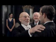 RSC, Hamlet, 2009, Act I, Scene 2: Patrick Stewart as Claudius, David Tennant as Hamlet
