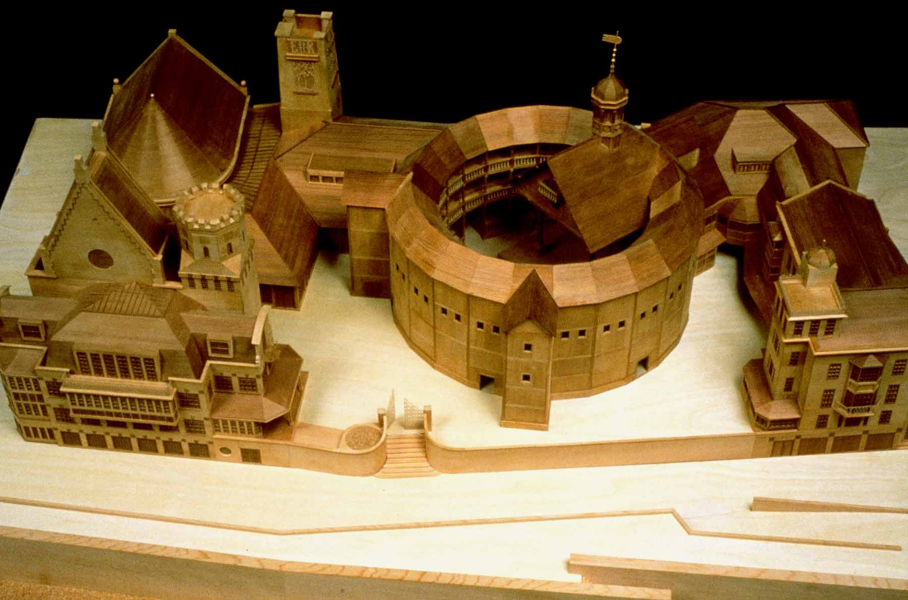 Model For The Rebuilding Of Shakespeares Globe Theatre