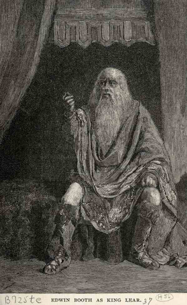 """the use by date in the play king lear Old king lear, in an (ultimately unsuccessful) attempt to arrange for a  when he  writes: """"our play has no historical or political significance."""