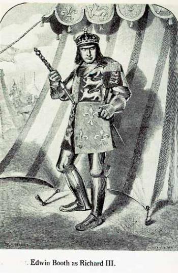 Richard III: Edwin Booth as Richard III