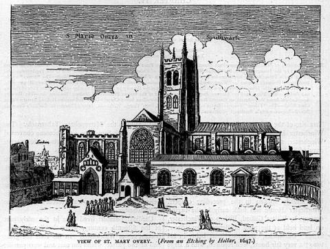 St. Saviour, Southwark, after Hollar