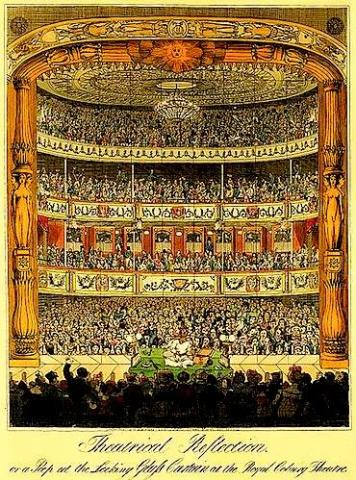 The Royal Coburg Theatre in 1822