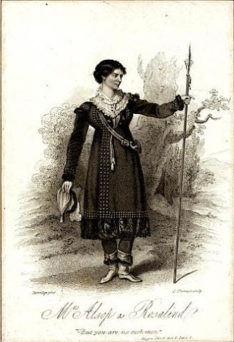 As You Like It: Mrs. Alsop as Rosalind