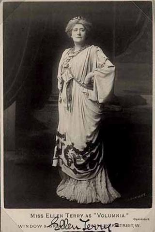 Coriolanus: Ellen Terry (1847-1928) as Volumnia