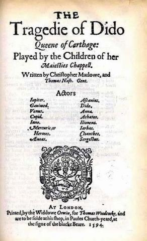 """Dido"" Title Page (1594 Edition)"
