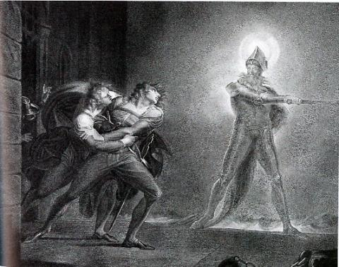 Boydell's Collection: Hamlet and the Ghost by Henry Fuseli