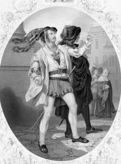 Romeo and Juliet: James William Wallack (1818-1873) as Mercutio