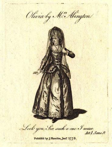 Twelfth Night: Frances Abington as Olivia