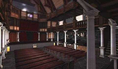 Recreation of the Indoor Blackfriars Playhouse