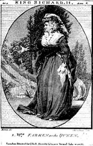Richard II: Elizabeth Farren (1759-1829) as the Queen