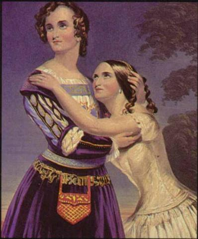 Romeo and Juliet: Charlotte Cushman as Romeo and Susan Cushman as Juliet