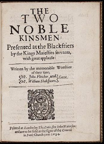 The Two Noble Kinsmen by John Fletcher and William Shakespeare