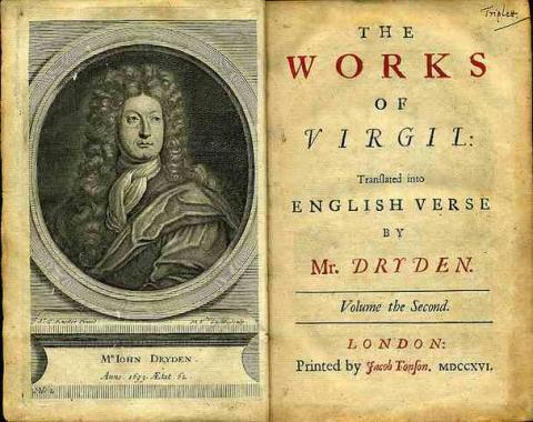 Frontispiece & Title: Vol. II of the Works of Virgil translated by John Dryden (1716)
