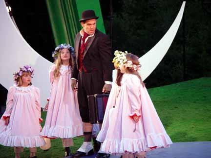 A Midsummer Night's Dream at the Bruns Theatre: CST. 2002. Puck: Andy Murray.