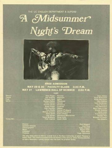 A Midsummer Night's Dream, Berkeley Shakespeare Program, 1980 (Program)