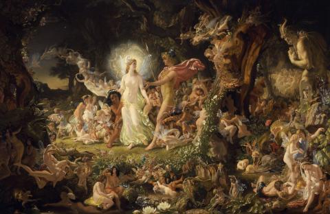 A Midsummer Night's Dream, The Quarrel of Oberon and Titania by Joseph Noel Paton, 1849