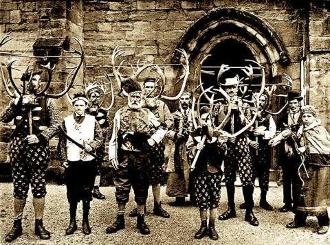 Abbots Bromley Horn Dance, circa 1900