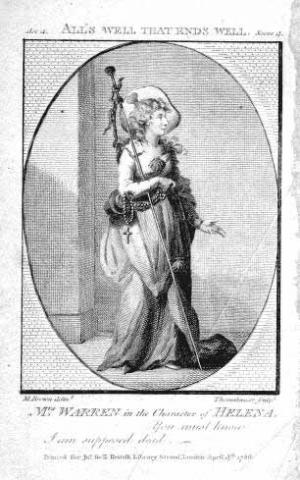 All's Well That Ends Well, Anne B. Warren as Helena, 1786