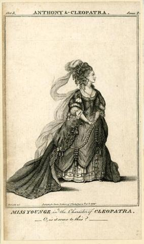 Antony and Cleopatra, Elizabeth Younge as Cleopatra, 1772