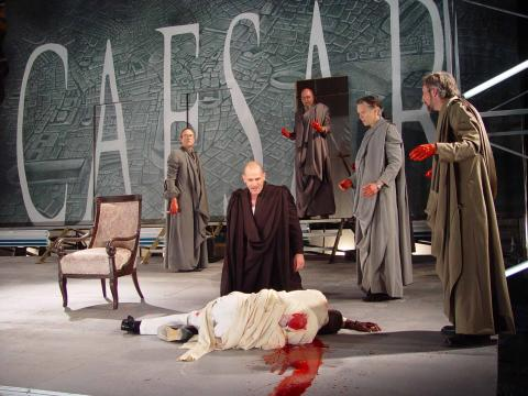 CST; Julius Caesar: Antony Mourns over the Corpse of Caesar in front of Brutus.