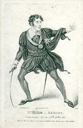 Hamlet, Edmund Kean as Hamlet, Drury Lane Theatre, 1814