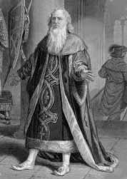 Hamlet, Henry Placide (1799-1870) as Polonius