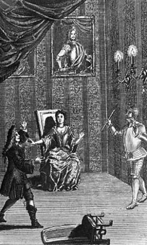 Hamlet, Thomas Betterton as Hamlet, Queen's Theatre, 1706