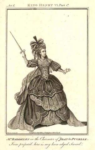 Henry VI, Part 1, Sophia Baddeley (1745-1786) as Joan La Pucelle