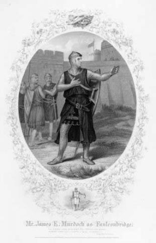 King John, James Edward Murdoch (1811-1893) as Faulconbridge (Philip the Bastard)
