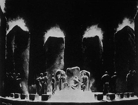 King Lear, Set Design by Norman Bel Geddes, 1919