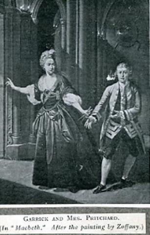 Macbeth, David Garrick and Hannah Pritchard in Macbeth