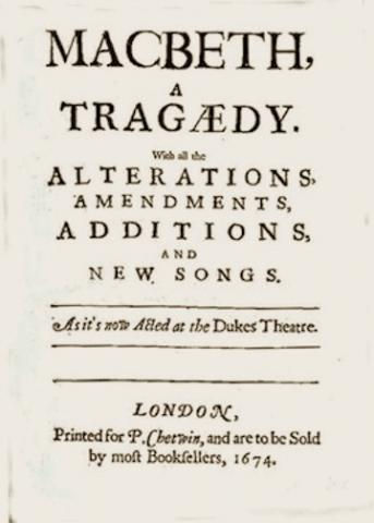 Macbeth, Revised Edition, 1674