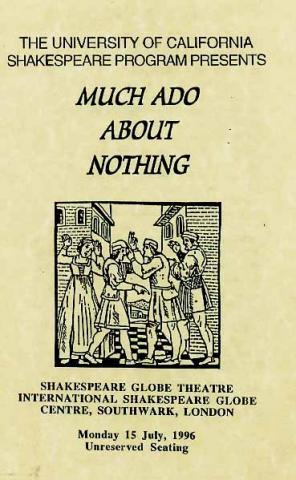 Much Ado About Nothing, Berkeley Shakespeare Program, 1996 (Program Flyer)