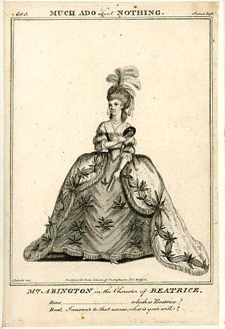 Much Ado About Nothing, Mrs. Abington as Beatrice, London, Drury Lane Theatre, 1775