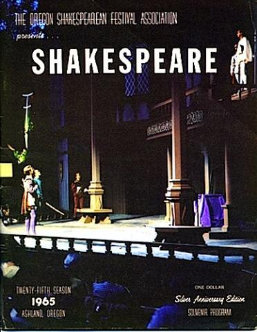 Oregon Shakespeare Festival Program (Ashland) for 1965.
