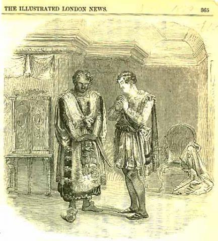 Othello: Mr. Wallace as Othello and Mr. Macready as Iago