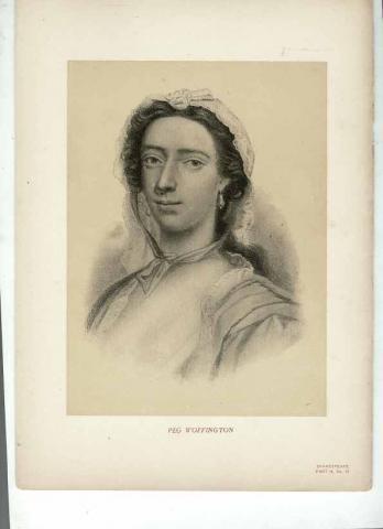 Peg [Margaret] Woffington (1714-1760) Portrait