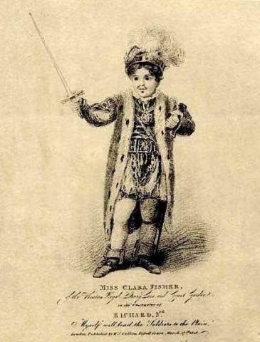 Richard III, Clara Fisher as Richard III, 1818