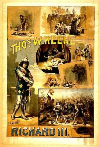 Richard III, Thomas Keene (1840-1898) as Richard III (Poster)