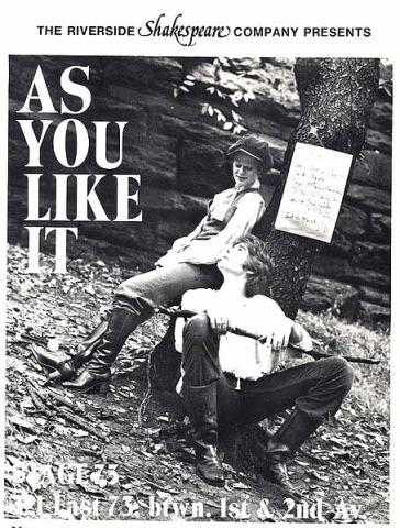 Riverside Theatre New York: As You Like It, 1978: Caryn West and Kent Odell.