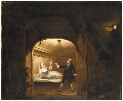 Romeo and Juliet, Mr. David Garrick (1717-1779) as Romeo, Miss George Anne Bellamy (1727-1788) as Juliet
