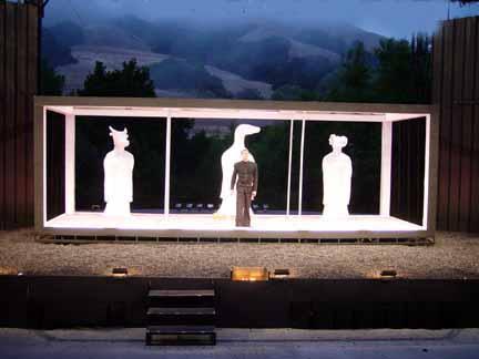 Set for Macbeth at the Bruns Theatre: California Shakespeare Theatre, 2002.
