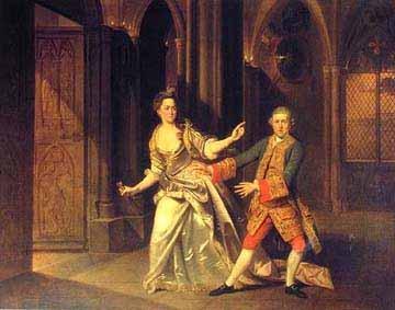 The Macbeths: David Garrick and Hannah Pritchard by Johann Zoffany (1733-1810)
