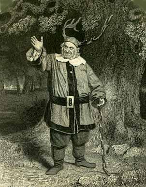 The Merry Wives of Windsor, James Hackett (1800-1871) as Falstaff