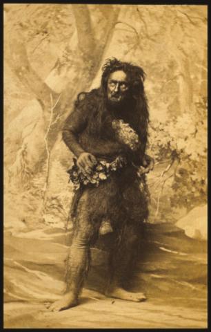 The Tempest: J. L. Cathcart as Caliban