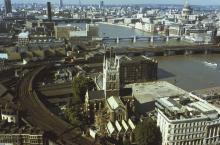 Modern Southwark Facing West fom Above London Bridge