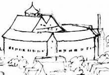 Second Globe Theatre (1614-1642) - Hollar Sketch