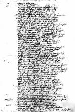 "A page from the Foul Papers of the play ""Sir Thomas More,"" probably in Shakespeare's hand"
