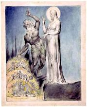 Paradise Regained Book IV: Satan Tempts Christ, by William Blake